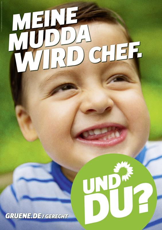 Bündnis90/Die Grünen Wahlplakat 2013