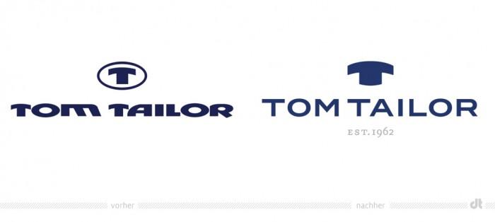 TOM TAILOR Logo – vorher und nachher