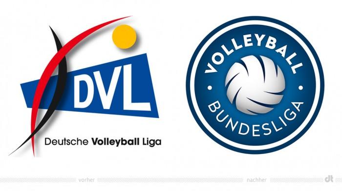 Volleyball Bundesliga Logo – vorher und nachher