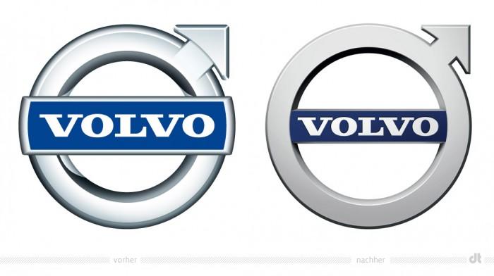 Volvo Logo – vorher und nachher