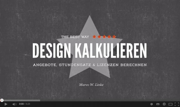 """Workshop """"Design kalkulieren"""""""