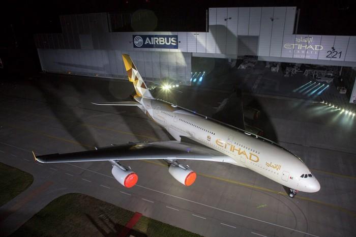 Etihad Airways new A380 livery