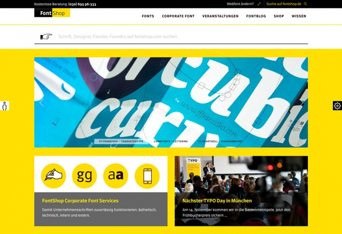 Relaunch von Fontshop.de