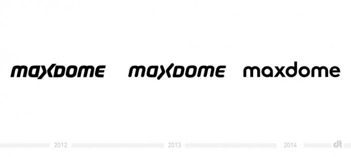 Maxdome Logo – vorher und nachher