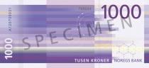 Neue 1.000-Krone-Note (Rückseite)