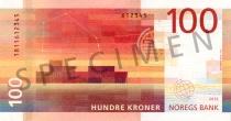 Neue 100-Krone-Note (Rückseite)