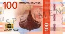 Neue 100-Krone-Note (Vorderseite)