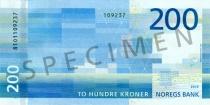 Neue 200-Krone-Note (Rückseite)