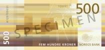 Neue 500-Krone-Note (Rückseite)