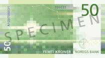 Neue 50-Krone-Note (Rückseite)