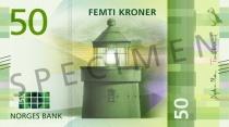 Neue 50-Krone-Note (Vorderseite)