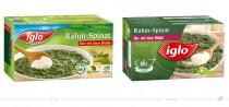 Iglo Rahm-Spinat – vorher und nachher