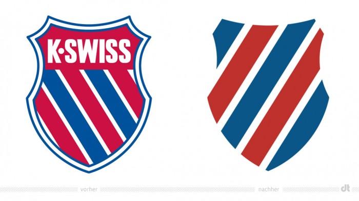 K-Swiss Logo – vorher und nachher