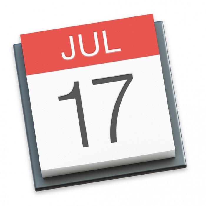 Kalender-Symbol in Mac OS X Yosemite