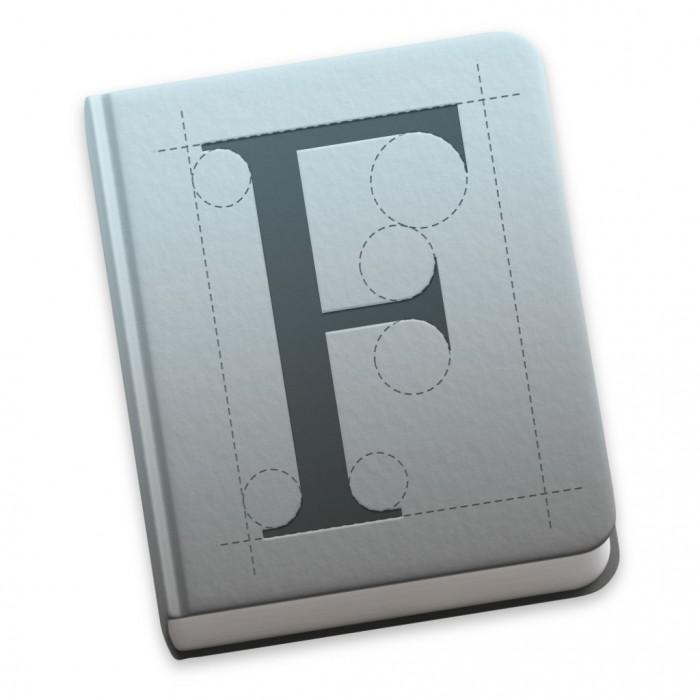 Schriftsammlung-Symbol in Mac OS X Yosemite