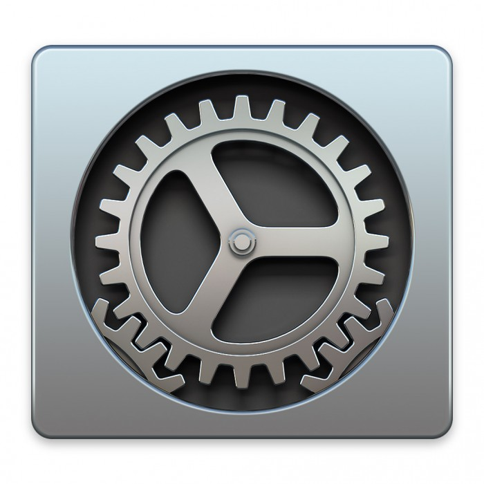 Systemeinstellungen-Symbol in Mac OS X Yosemite
