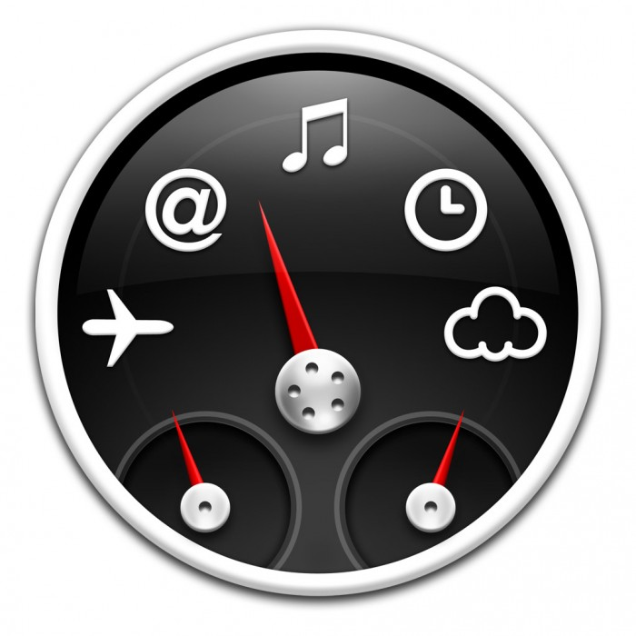 Dashboard-Symbol in Mac OS X Mavericks