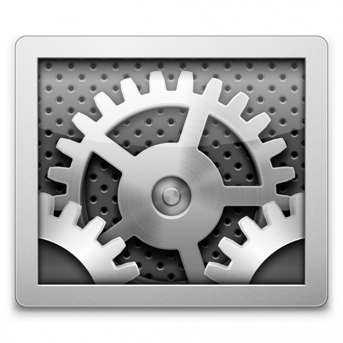 Systemeinstellungen-Symbol in Mac OS X Mavericks