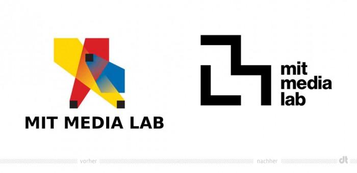 MIT media lab Logo - vorher und nachher