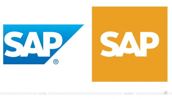 SAP Logo – vorher und nachher