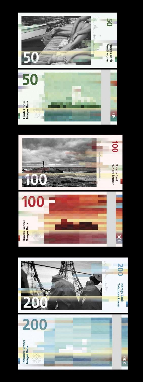 Banknoten  Entwurf Snøhetta