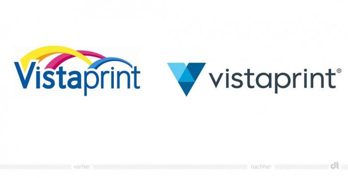 Vistaprint Logo – vorher und nachher