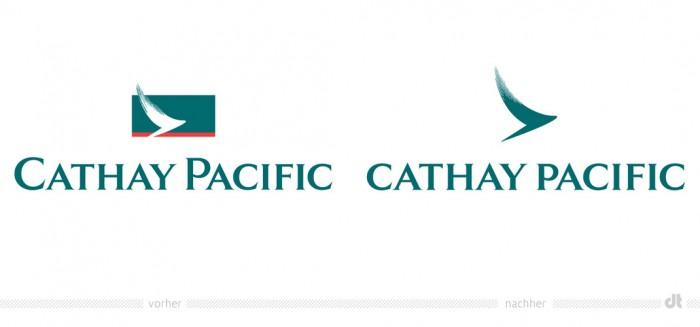 Cathay Pacific Logo – vorher und nachher