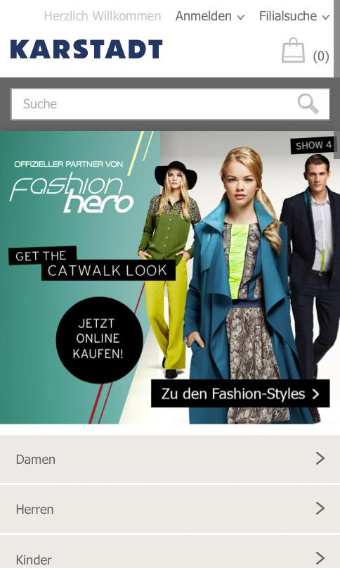 bf309ec532 Karstadt.de – Onlineshop für mobile Endgeräte – Design Tagebuch