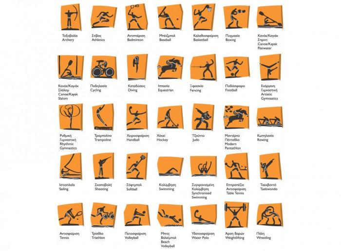Piktogramme Athen 2004