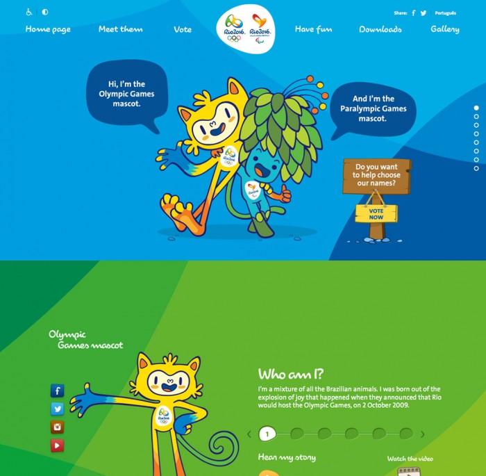 Rio 2016 Mascots Official Website