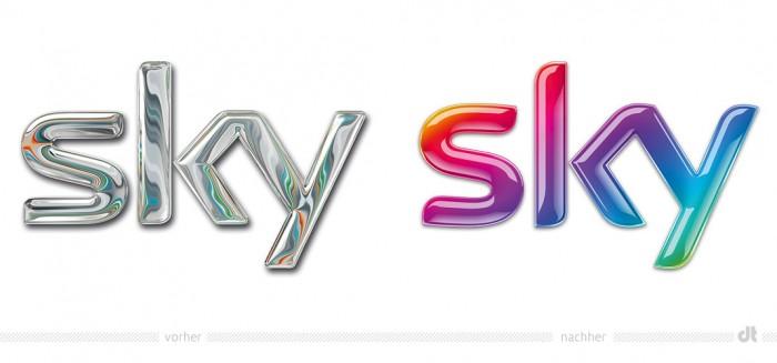 Sky Logo – vorher und nachher