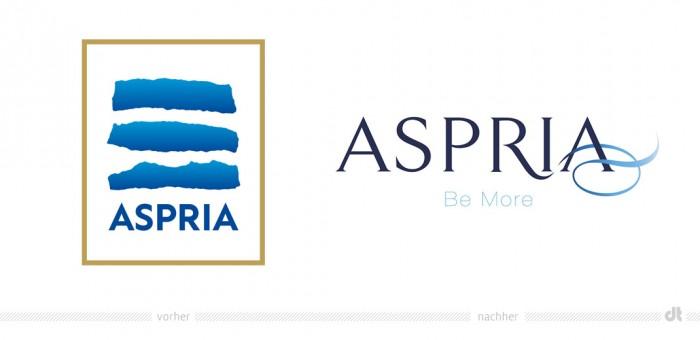 Aspria Logo - vorher und nachher