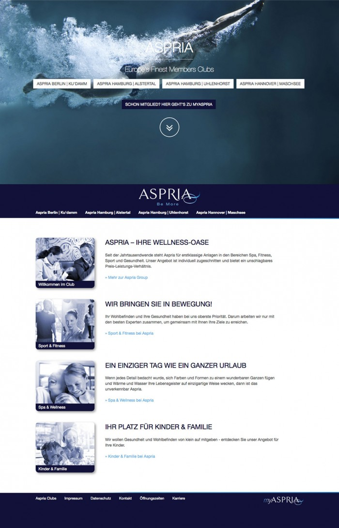 Aspria Website