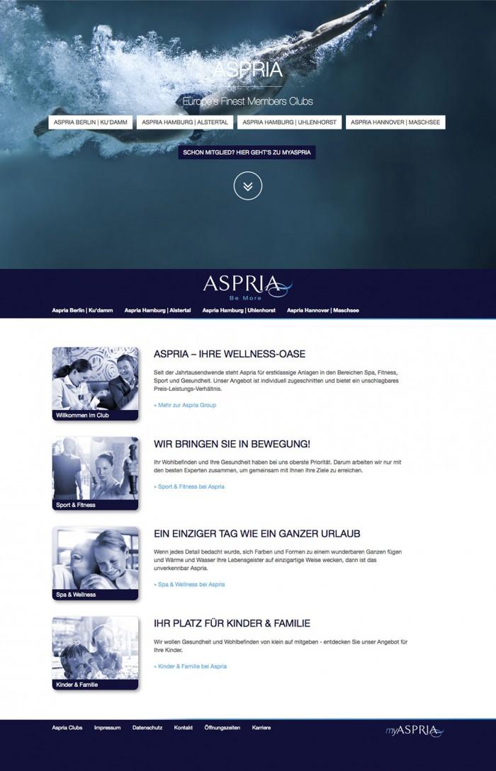 Aspria Website