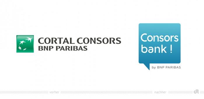 Consors Bank Logo – vorher und nachher