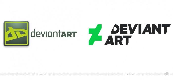DevianArt Logo – vorher und nachher