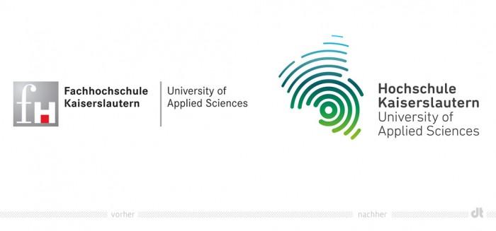 Hochschule Kaiserslautern Logo – vorher und nachher