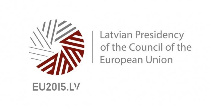 Logo der Lettischen EU-Ratspräsidentschaft 2015