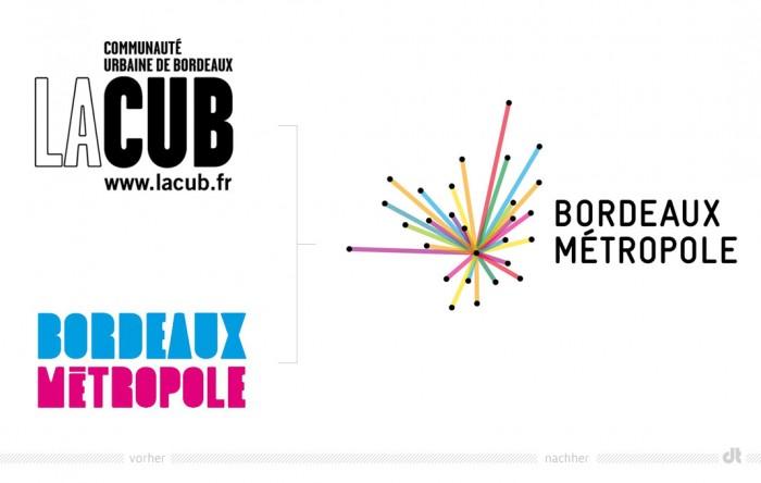 Bordeaux Métropole Logo – vorher und nachher