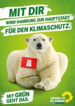 Bündnis90/Die Grünen Hamburg Plakat zur Bürgerschaftswahl 201