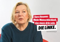 Die Linke Hamburg Plakat zur Bürgerschaftswahl 2015 – Dora He