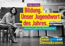 FDP Hamburg Plakat zur Bürgerschaftswahl 2015