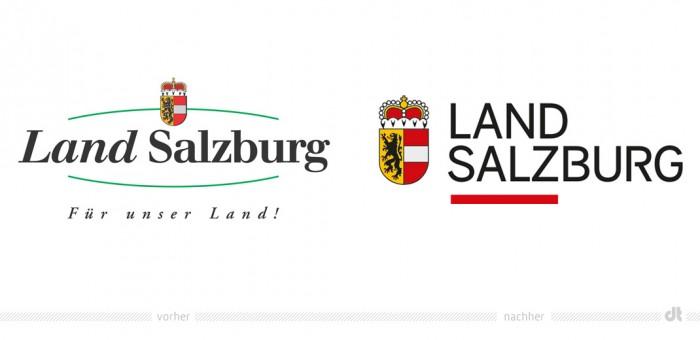 Land Salzburg Logo – vorher und nachher