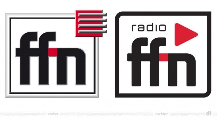 Radio ffn Logo – vorher und nachher