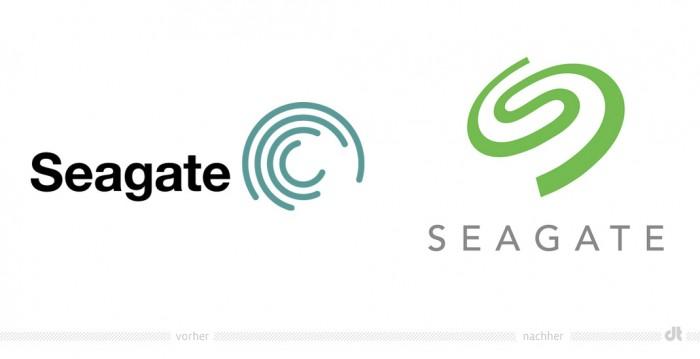 Seagate Logo – vorher und nachher