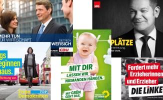 Wahlplakate zur Bürgerschaftswahl 2015 in Hamburg