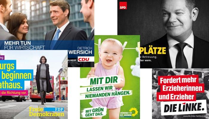 Zwischen Konsens und Aufbegehren – die Plakate zur Bürgerschaftswahl 2015 in Hamburg