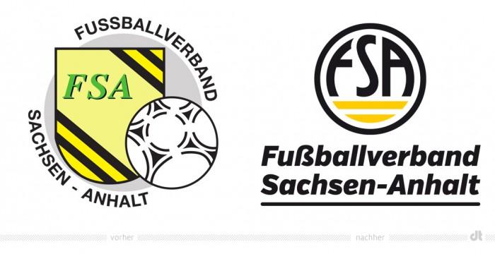 Fußballverband Sachsen-Anhalt Logo – vorher und nachher