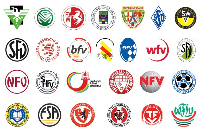 Fussball Landes-und-Regionalverbände Logos
