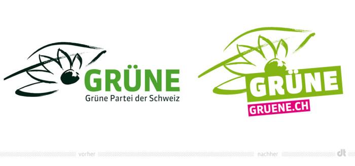 Grüne Schweiz Logo – vorher und nachher